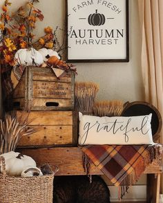 Happy Gathering everybody! Welcome Fall! - Happy Gathering everybody! Welcome Fall!it's time for DecorandFrie - Decoration Christmas, Thanksgiving Decorations, Halloween Decorations, Seasonal Decor, Harvest Decorations, Holiday Decor, Fall Home Decor, Autumn Home, Country Fall Decor