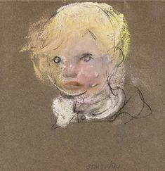 Artwork by Joan Kathleen Hardy Eardley, Jimmy Winifred Nicholson, William Nicholson, Black Crayon, Pastel Portraits, Glasgow School Of Art, Popular Artists, Paper Drawing, Inspirational Artwork, Western Art