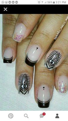 Nail Tutorials, Nails, Beauty, Short Nails, Nail Manicure, Fingernail Designs, Mandalas, Finger Nails, Ongles