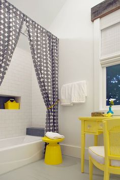 Yellow And Gray Bathroom Ideas | Grey And Yellow Bathroom Accessories