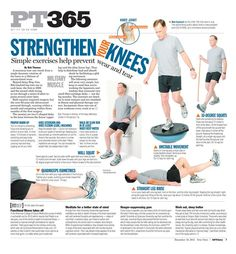 Mil Muscle columnist Bob Thomas focused this week on a joint that causes a lot of us pain and worry: our knees. A meniscus tear can result from a single dynamic rotation of the knee or a lifetime o. Pilates, Acl Recovery, Knee Strengthening Exercises, Hamstring Exercises, Chair Exercises, K Tape, How To Strengthen Knees, Knee Arthritis, Rheumatoid Arthritis