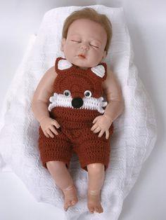 Baby Halloween Outfits, Baby Girl Halloween, Baby Outfits, Fox Baby Clothes, Crochet Baby Clothes, Crochet Fox, Crochet Pattern, Baby Girl Gifts, Baby Patterns