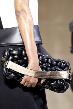"""Balenciaga Fall 2011 Oversized Leather """"knitted"""" Clutch"""