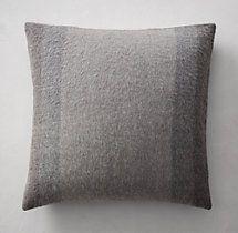 Alpaca Wide Stripe Pillow Cover - Square