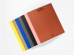John Morgan Studio, AA Files. Plain but colorful. Interior spreads are organized but sometimes shuffled.