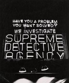 Supreme Detective Agency New York City, circa 1943. Photo by Weegee. (Via ckck)