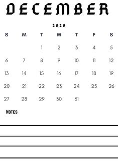 Download December 2020 notes monthly calendar template for free. You can use it for may purposes like project planning, travel planning, workout plan, etc. #december #calendar2020 #notes #planner #reminder Monthly Calendar Template, Calendar 2020, Notes Free, Quote Template, Calendar Wallpaper, Trip Planning, Write Notes, December, Inspirational Quotes