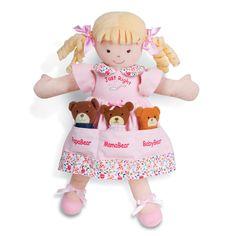 North American Bear Co. Dolly Pockets Goldilocks & the Three Bears