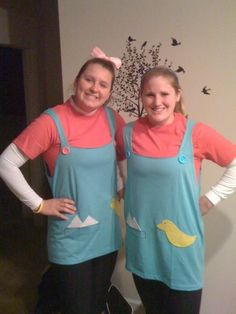 My sister and I ran as Phil & Lil in the Wicked10k