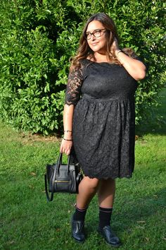 MFashion With Love: Lace black dress Curvy Dress, Curvy Plus Size, Lace Dress Black, Black Laces, Plus Size Outfits, Cold Shoulder Dress, Dresses, Fashion, Large Size Clothing