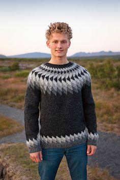 - Icelandic Jón (John) Mens Wool Sweater Black Heather - Tailor Made - Nordic Store Icelandic Wool Sweaters - 1 Thick Sweaters, Wool Sweaters, Mens White Shorts, Handgestrickte Pullover, Icelandic Sweaters, Fair Isle Knitting, Knit Crochet, Men Sweater, Unisex