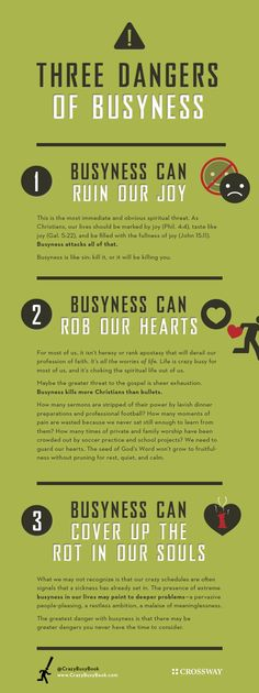 Infographic: 3 Dangers of Busyness