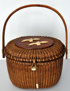 Nantucket basket purse.  Someday I will have one of these.