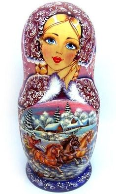 Matryoshka: Our collection of Nesting dolls Russian dolls intrigue you? More than simple decorative objects, they symbolize Russia. So do not hesitate to discover our entire collection ofmatryoshka. Matryoshka Doll, Kokeshi Dolls, Art Populaire Russe, Russian Folk Art, Russian Culture, Wooden Dolls, Tole Painting, Doll Face, Beautiful Dolls