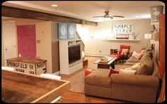 Cozy unique family room