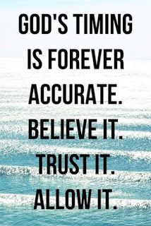 God's timing is forever accurate. Believe it. Allow it. Believe, Faith Quotes, Bible Quotes, Qoutes, Strength Quotes, Bible Psalms, Quotes Quotes, Soli Deo Gloria, Faith In God