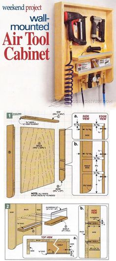 Air Tool Cabinet Plans - Workshop Solutions Plans, Tips and Tricks  | WoodArchivist.com