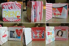 this is a darling mini album using Echo park yummy papers