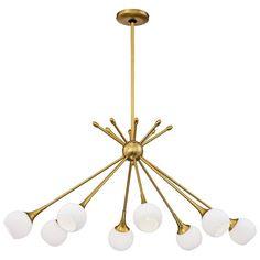 "Pontil 36 1/2""W Honey Gold Kitchen Island Light Chandelier - #15J00 | Lamps Plus Mobile Chandelier, Gold Chandelier, Sputnik Chandelier, Chandelier Lighting, Chandeliers, Modern Chandelier, Large Pendant Lighting, Chandelier Bedroom, Pendant Lamps"