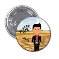 "Lucas Ministry Jehovah's Witness Badge - As part of our range of cute badges that display cartoon renditions of younger brothers and sisters of different cultures and languages witnessing ""to the most distant part of the earth."