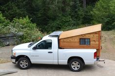 This is a custom Dodge RamTruck Camper with solar built by Jeremy Tuffli of Tuffli Built. My name is Jeremy and I built a custom camper shell for my [Dodge Ram]. It is made of western red cedar, d…