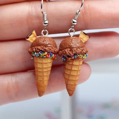 Hey, I found this really awesome Etsy listing at https://www.etsy.com/listing/230207885/chocolate-ice-cream-earrings-miniature