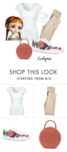 """""""Big Eyes"""" by luvlymii ❤ liked on Polyvore featuring Jane Norman, AG Adriano Goldschmied, Gucci and Mansur Gavriel"""