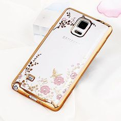 Bling Diamond Clear Cover for Samsung Note 4 Case N9100 Silicone Cover for Samsung Galaxy Note 4 Case Luxury TPU Fundas Coque