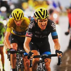 What a performance from these two on that last climb today! #AllezTeamSky #TDF2015 Credit teamsky