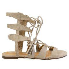 Impress-8 Sand Ankle Length Gladiator Tie Up Sandals - Traffic Shoe