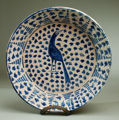 large late century Granadino Fuente charger from Granada, Spain Ceramic Plates, Ceramic Pottery, Pottery Art, Slab Pottery, Pottery Studio, Kintsugi, Ceramic Painting, Ceramic Art, Earthenware