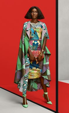 Gaye McDonald wearing prints by Vlisco, photographed by Barrie Hullegie & Sabrina Bongiovanni