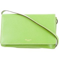 Pre-owned Kate Spade New York Textured Leather Clutch (305 RON) ❤ liked on Polyvore featuring bags, handbags, clutches, green, man bag, kate spade handbag, kate spade, green handbags and pre owned purses