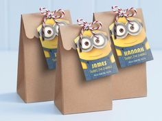Minion Party Kit edit and print as many copies by MontyandMeShop