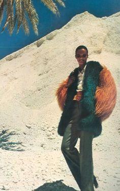 Suzie Dyson photographed by Jean-Daniel Louieux for Vogue Paris, 1971.