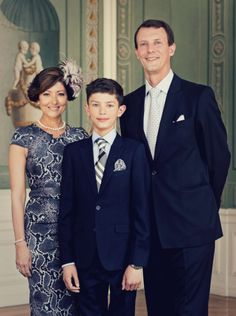 (C) Prince Nikolai of Denmark confirmation official pictures, His parents Prince Joachim of Denmark and Countess, Alexandra Manley, who are divorced, attend the event together on 18 May 2013 Prince Felix Of Denmark, Princess Alexandra Of Denmark, Denmark Royal Family, Danish Royal Family, Casa Real, Crown Princess Mary, Prince And Princess, Hollywood Fashion, Royal Fashion
