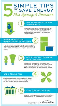Simple Tips To Save Energy (infographic) #tips #savingenergy #comfortairzone #infographic