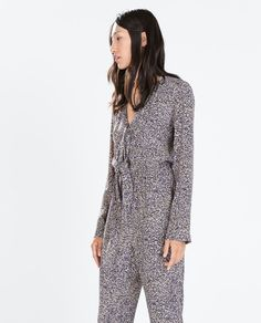 ZARA - WOMAN - LONG-SLEEVED BELL-BOTTOM JUMPSUIT