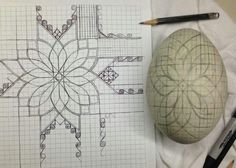 Mark Malachowski of Ohio, USA, planning out one of his fantastic pysanky. Egg Crafts, Easter Crafts, Spring Crafts, Holiday Crafts, Egg Shell Art, Carved Eggs, Easter Egg Designs, Ukrainian Easter Eggs, Faberge Eggs