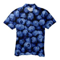 Blueberry Men's Polo Shirt Men's Polo, Polo Shirts, Make You Smile, Printed Shirts, Blueberry, Men Casual, Make It Yourself, Mens Tops, How To Make