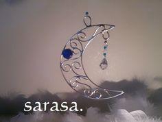 スワロフスキージュエル 月のしずくサンキャッチャー♪(青)