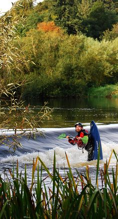 Slane Castle Weir - Kayaking on the River Boyne at Slane Castle.  Showin' off!