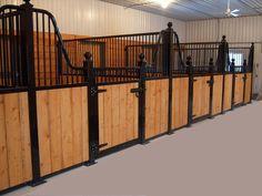 LANGILLE WELDING BUILT THESE BEAUTIFULL HORSE STALLS
