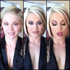 Porno-actrices witout and with make-up Beauty Make-up, Beauty Makeup Tips, Beauty Women, Beauty Hacks, Hair Beauty, Natural Beauty, Makeup Hacks, Makeup Trends, Beauty Cream