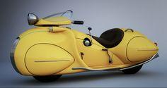 Holodeck: AMERICAN STREAMLINE DESIGN Henderson motorcycle