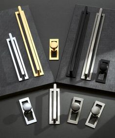 Featured Products – Pomelli Designs Kitchen Cabinets Handles And Knobs, Cabinet And Drawer Knobs, Cabinet Handles, Cabinet Hardware, Door Handles, Shaker Style Kitchens, Pomellato, Back Plate, Cabinet Design