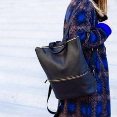 I want this backpack for my study abroad Milan trip! - Margo & Me My Outfit, Outfit Ideas, School Days, Leather Backpack, Fashion Backpack, Work Wear, Milan, Backpacks, Spring