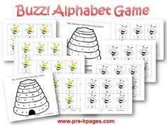 Buzz Alphabet Identification Game for #preschool and #kindergarten