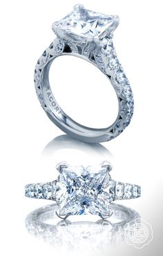 Perfectly engineered for beauty from every angle. Love this Tacori engagement ring!