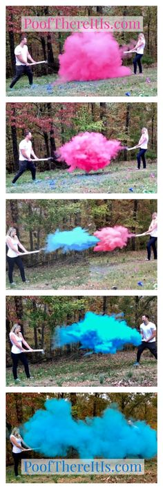 Smoke Powder Cannon Gender Reveal! Powder Cannons are Perfect for a Picture Perfect Gender Reveal! Buy at PoofThereItIs.com